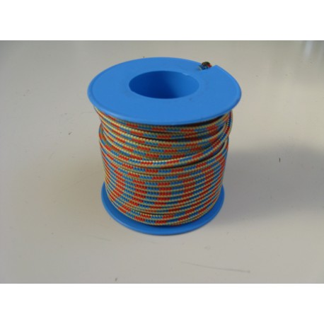Garcette Ø 3 mm multicolore 100 m